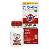 MediNatura, T-Relief, Arnica+12, Pain Relief - 100 Tablets