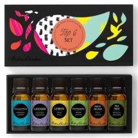 Edens Garden, Top 6 Set, 100% Pure Therapeutic Grade Essential Oils - 10 ml (6 Pack)