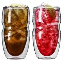 Ozeri, Serafino Double Wall Insulated Iced Tea and Coffee Glasses - 16 Ounce Set of 2