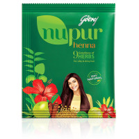 Godrej, Nupur Mehendi Powder 9 Herbs Blend - Net Weight 120 Gram (3 Packs)