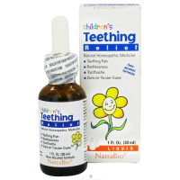 NatraBio, Children's Teething Relief, Non-Alcohol Formula, Liquid - 1 fl oz (30 ml)
