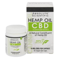 Absolute Scientific, 100% Organic Cannabidiol Hemp Oil CBD - 30 Vegetarian Capsules