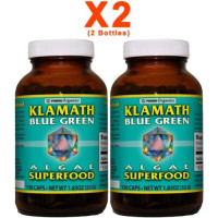 KLAMATH, Blue-Green Algae Superfood 400 mg - 130 Capsules [2 Bottles]