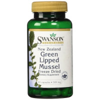 Swanson, New Zealand Green Lipped Mussel Freeze Dried 500 mg - 60 Capsules