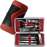 Beauty Bon, Stainless Steel Nail Clippers, Manicure & Pedicure Hygiene Kit - 10 Piece