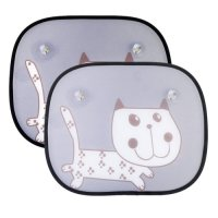 IntiPal, Baby Car Window Sunshades Protector with Cartoon Pattern - 2 Pack