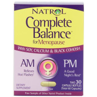 Natrol, Complete Balance A.M./P.M. Formula for Menopause, Two, 30 Capsule Bottles