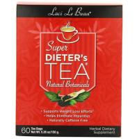 Natrol, Laci Le Beau, Super Dieter's Tea, Natural Botanicals, 60 Tea Bags - 5.26 oz (150 g