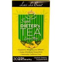 Natrol, Laci Le Beau, Super Dieter's Tea, Lemon Mint, 30 Tea Bags - 2.63 oz (75 g)