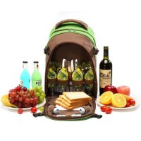 YNV, 4 Person Picnic Backpack with Full Zip Pocket for Picnic