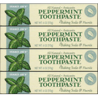 Trader joe's, All Natural Anticavity Peppermint Toothpaste with Baking Soda and Fluoride -