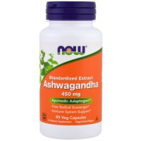 Now Foods, Ashwagandha 4.5 Pct. Extract 450 mg - 90 Veggie Caps