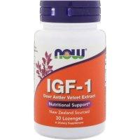 Now Foods, IGF-1 Deer Antler Velvet Extract - 30 Lozenges