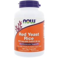Now Foods, Red Yeast Rice, 600 mg with CoQ10, 30 mg - 120 Veggie Caps