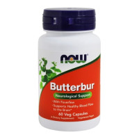 NOW Foods, Butterbur with Feverfew - 60 Vegetarian Capsules