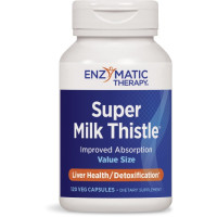 Enzymatic Therapy, Super Milk Thistle, Liver Health - 120 Veggie Caps
