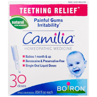 Boiron, Camilia, Teething Relief, 30 Liquid Doses - .034 fl oz Each