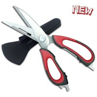 GUYUCOM, Kitchen Scissors, Heavy Duty Kitchen Shears (Black-Red)