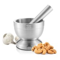 3SS, Stainless Steel Spice Grinder, Mortar and Pestle Set