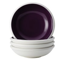 Rachael Ray, Dinnerware Rise Collection 4-Piece Stoneware Fruit Bowl Set - Purple