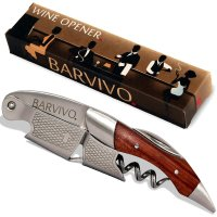 Barvivo, Stainless Steel and Natural Rosewood Professional Waiters Corkscrew
