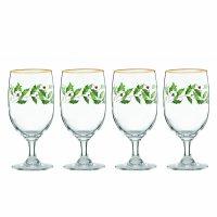 Lenox, Holiday Iced Beverage Glasses - Set of 4 (Ivory)