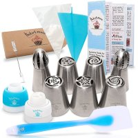 Baker's Muse, Russian Piping Tips Cake Decorating Kit with Gift Box - 23 Pieces