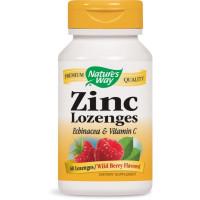 Nature's Way, Zinc Lozenges, Wild Berry Flavor - 60 Lozenges