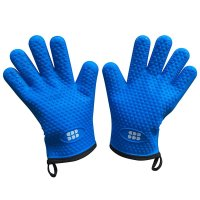 SBDW, Heat Resistant BBQ Cooking Gloves & Oven Mitts. (Blue)