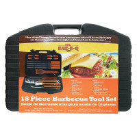 MBBQ, 18-Piece Stainless-Steel Barbecue Set with Storage Case