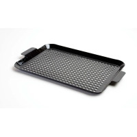 CHCP, Black Porcelain Coated Perforated Steel Grill Grid - Medium