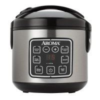 ARHW, Stainless Steel Digital Cool-Touch Rice Cooker and Food Steamer, 8-Cup (Cooked)
