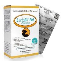 California Gold Nutrition, LactoBif Pet Probiotics, 5 Billion CFU - 60 Veggie Caps