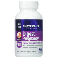 Enzymedica, Digest Pregnancy, Digestive Enzymes & Organic Ginger - 90 Capsules