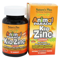 Nature's Plus, Animal Parade, Kid Zinc Lozenges, Natural Tangerine Flavor - 90 Animals