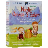Nordic Naturals, Nordic Omega-3 Fishies, Yummy Tutti Frutti Taste, 300 mg - 36 Fishies