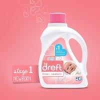 Dreft, Stage 1 Newborn Hypoallergenic Liquid Baby Laundry Detergent (HE) - 50 Oz. (32 load