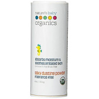 Nature's Baby Organics, Silky Dusting Powder, Fragrance Free - 4 oz (113.4 g)