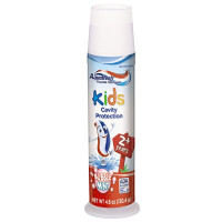 Aquafresh, Kids Pump Cavity Protection Bubble Mint Fluoride Toothpaste - 4.6 ounce (Pack o