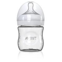Philips Avent, Natural Glass Bottle (Size: 4 oz ~ 8 oz)