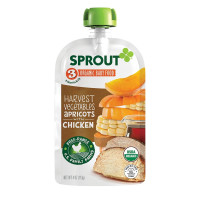 Sprout, Stage 3 Organic Baby Food Pouches for 8+Months, 4 Ounce (Pack of 6)
