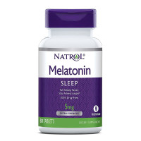 Natrol, Melatonin, Sleep, Extra Strength, 5 mg - 60 Tablets