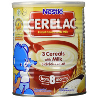 Nestle Cerelac, 3 Cereals With Milk - 400 Gram Can