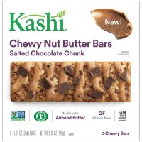 Kashi, Salted Chocolate Chunk Chewy Granola Nut Butter Bars, 5 Ct - 6.15 oz (175 g)