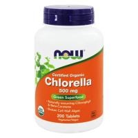 Now Foods, Certified Organic Chlorella, 500 mg - 200 Tablets
