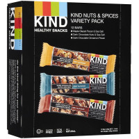 Kind, Nuts & Spices Variety Pack 3 Flavor Assortment - 1.4 Ounce (12 Bars)