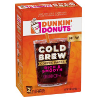 Dunkin' Donuts, Cold Brew Coffee, Packs Smooth & Rich, Ground Coffee - 8.46 Oz (240 g)