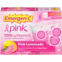 Emergen-C, Vitamin C, Flavored Fizzy Drink Mix, Pink Lemonade Flavor, 1,000 mg, 30 Count -
