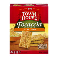 Keebler, Town House, Focaccia Crackers Tuscan Cheese - 9 oz (255 g)