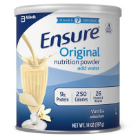 Ensure, Original Nutrition Powder with protein, Meal Replacement, Vanilla - 14 oz (397 g)